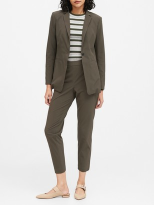 Banana Republic Petite Long & Lean-Fit Performance-Stretch Blazer