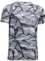 Under Armour Boys' Big Logo Hybrid Print Tee - Big Kid