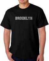 Men's Word Art Brooklyn T-Shirt in Black