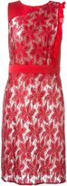 Ungaro floral lace fitted dress