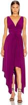 Norma Kamali Goddess Gown in Raspberry   FWRD