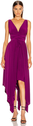 Norma Kamali Goddess Gown in Raspberry | FWRD