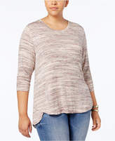 Style&Co. Style & Co Plus Size Space-Dyed High-Low Top, Created for Macy's