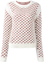 Julien David checked jumper - women - Cotton/Acrylic/Nylon - M