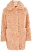 Topshop Curly faux fur coat