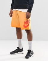 Nike Alumini Jersey Shorts In Orange 728691-868