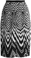Anna Field Pleated skirt black/white