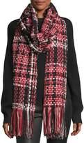 Rag & Bone Linton Tweed Fringed Wool-Blend Scarf