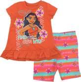 Disney Moana Toddler Girls' Ruffle Tunic and Bike Short Set
