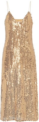 Caroline Constas Sequined midi dress