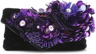 Dries Van Noten Embellished velvet clutch