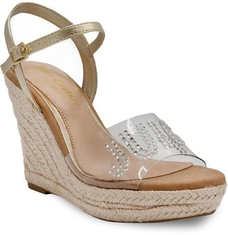 Juicy Couture Cristall Women's Espadrille Wedge Sandals