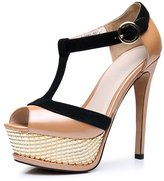 BASIC EDITIONS Women's Strappy Platform Pump High Heel Sandals