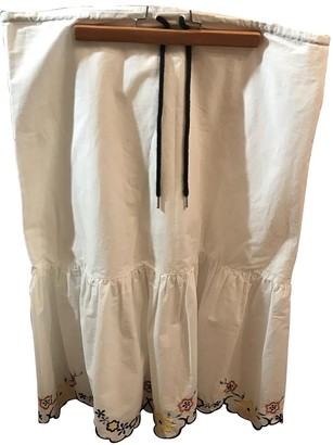 See by Chloe White Cotton Skirt for Women