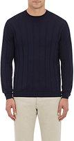 Brunello Cucinelli Men's Wool-Cashmere Sweater-NAVY