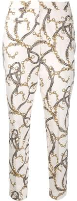 Cambio chain print slim-fit trousers