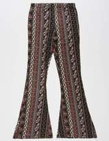 SKY AND SPARROW Paisley Floral Girls Flare Pants