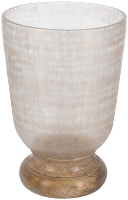 Retreat - Moreno Cut Glass Hurricane - Tall
