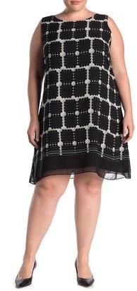 Max Studio Geometric Print A-Line Dress (Plus Size)