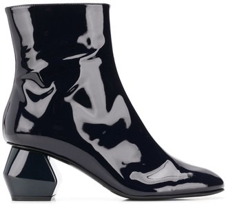 Emporio Armani Geometric Heel Ankle Boots