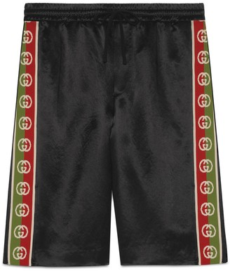 Gucci Acetate shorts with Interlocking G stripe