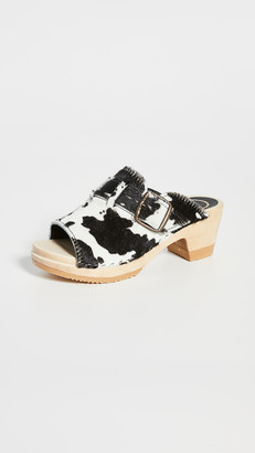 NO.6 STORE Riley Open Toe Mid Heel Clogs