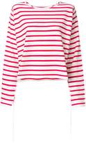 MM6 MAISON MARGIELA striped long sleeve T-shirt