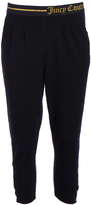 Juicy Couture Black Logo Easy-Fit Crop Pants