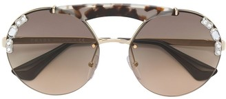 Prada Crystal Embellished Sunglasses