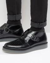 Diesel Khiris Leather Wedge Creeper Boots