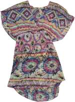Miken Junior's Tribal Print Chiffon Bathing Suit Cover Up (, Multi Color)