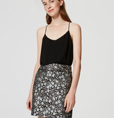 LOFT Tipped Floral Skirt