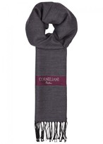 Corneliani Herringbone Wool And Silk Blend Scarf