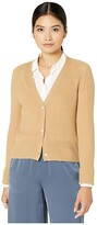Vince Ribbed Raglan Cardigan (Off-White) Women's Clothing
