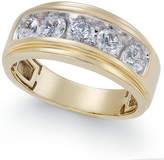 Macy's Men's Diamond Five-Stone Ring (1-1/2 ct. t.w.) in 10k Gold