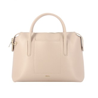 Furla Ares Bag In Textured Leather With Double Handles