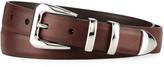 Brunello Cucinelli Men's Smooth Leather Belt