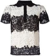 RED Valentino lace shortsleeved shirt - women - Silk/Cotton/Polyester - 48