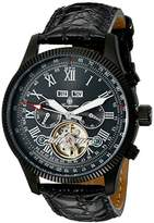 Burgmeister Men's Automatic Watch with Black Dial Analogue Display and Black Leather Bracelet BM330-622