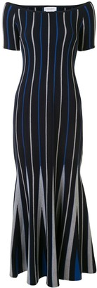 Gabriela Hearst Striped Knitted Maxi Dress