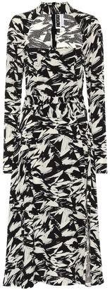 Rotate by Birger Christensen Ellen printed crepe midi dress