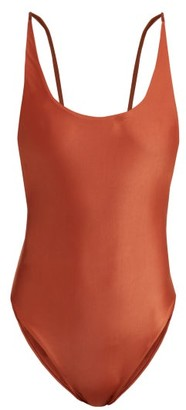 Haight Scoop-back Swimsuit - Womens - Brown
