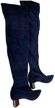 Nicholas Kirkwood Blue Suede Boots