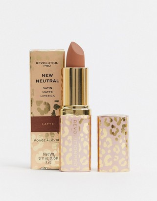 Revolution Pro New Neutrals Blushed Satin Matte Lipstick - Latte