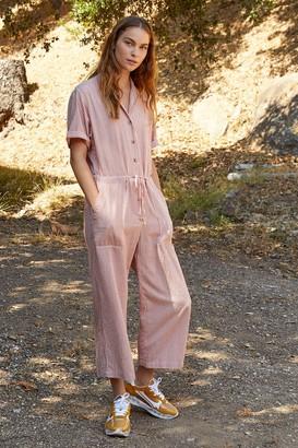 Velvet by Graham & Spencer Leann Cotton Blend Stripe Jumpsuit