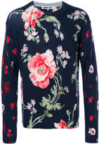 McQ floral print crew jumper