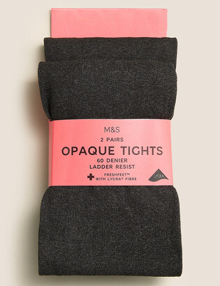 Marks and Spencer 2 Pack of 60 Denier Tights (4-14 Yrs)