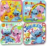 "Disney Set Of 4 Mini Hand Towels For Kids. Stitch. 8"" x 8"" (20 cm x 20 cm)."