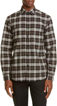 Burberry Simpson Plaid Button-Up Shirt