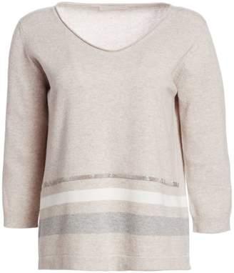 Fabiana Filippi Virgin Wool, Silk & Cashmere V-Neck Sweater